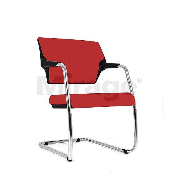 Cadeira Escritório Fixa Zaire Diretor Cromada Estofada