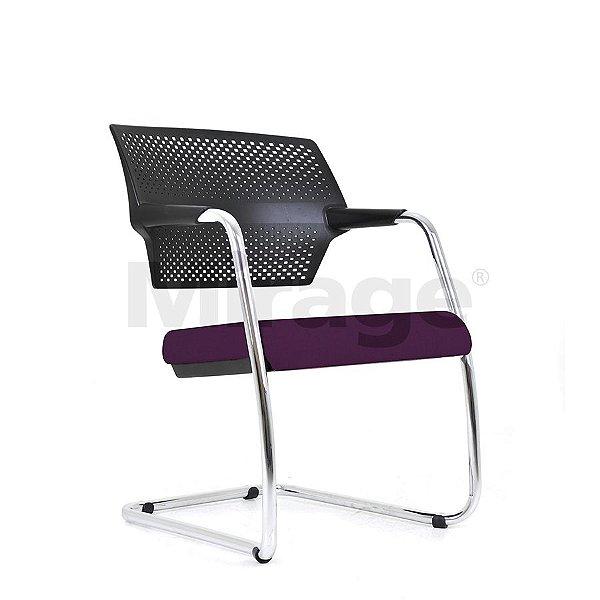 Cadeira Escritório Fixa Zaire Diretor Cromada
