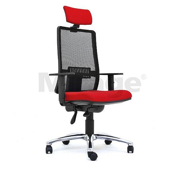 Cadeira Escritório Giratória Columbia Presidente Alumínio