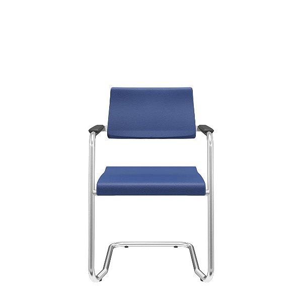 Cadeira Escritório Fixa Spot Diretor Cromada