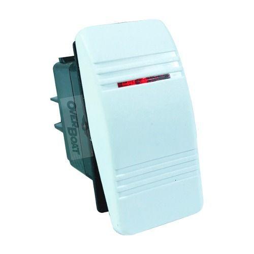 Interruptor On Off Iluminado Branco Lancha