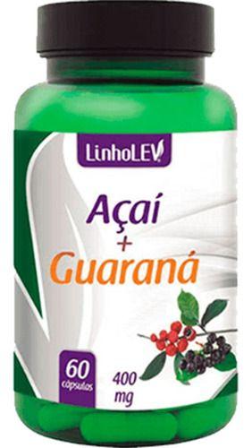 Açaí E Guaraná 400mg 60 Cápsulas - Linho Lev