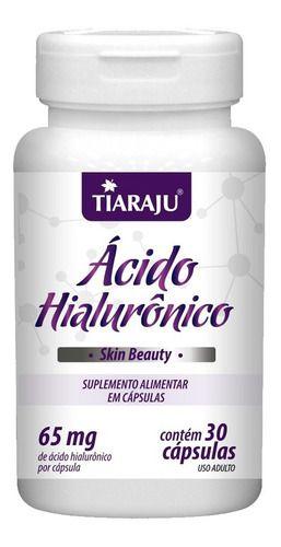 Ácido Hialurônico 30 Cápsulas 65mg - Tiaraju