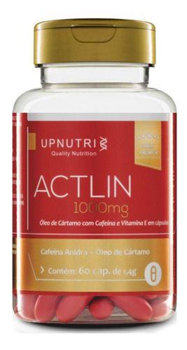 Actlin Oleo De Cartamo E Cafeina 1000mg 60 Cápsulas Upnutri