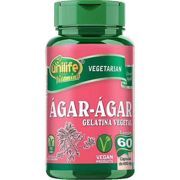 Ágar-ágar 60 Cápsulas 500mg - Unilife