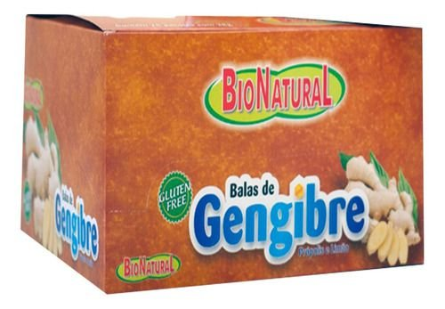 Bala De Gengibre Caixa 38g 10 Pacotes - Natugen
