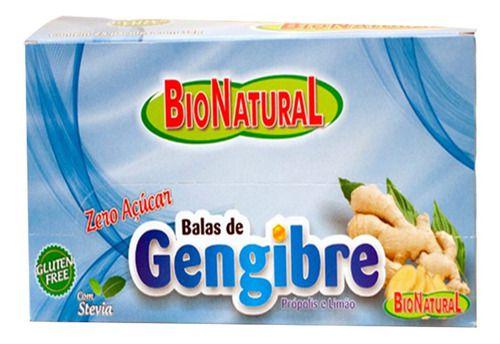 Bala De Gengibre Zero Açúcar 10 Pacotes De 30g - Natugen