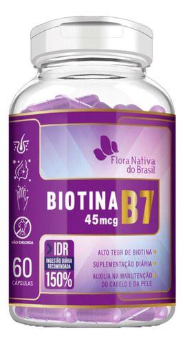 Biotina Vitamina B7 500mg 60 Cápsulas - Flora Nativa