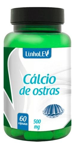 Cálcio De Ostras 500mg 60 Cápsulas - Linho Lev
