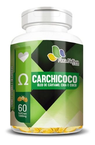 Cártamo Chia E Coco 1000mg 60 Cápsulas Flora Nativa