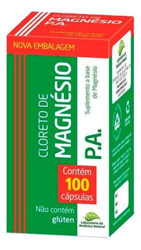 Cloreto De Magnésio P.a. 100 Cápsulas 500mg - Medinal