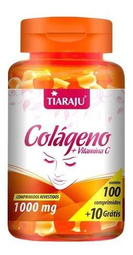 Colágeno + Vitamina C 1000mg 110 Cápsulas - Tiaraju
