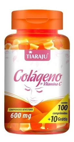 Colágeno + Vitamina C 600mg 110 Cápsulas - Tiaraju