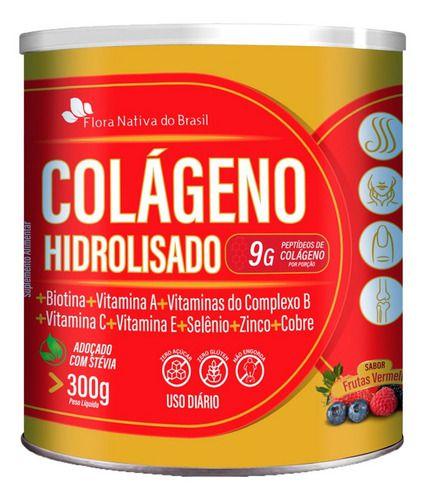 Colágeno Hidrolisado Em Pó 300g - Flora Nativa