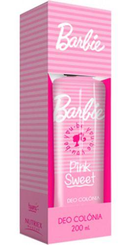 Colônia Infantil Barbie Pink Sweet 200ml - Nutriex