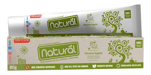 Pasta De Dente Glicerina Vegetal 80g - Natural