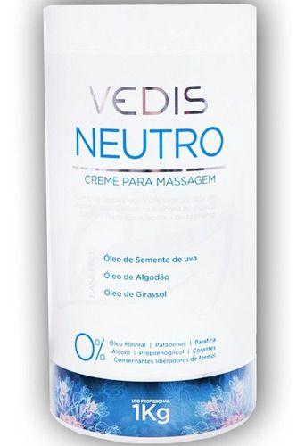 Creme De Massagem Neutro Original 1kg - Vedis