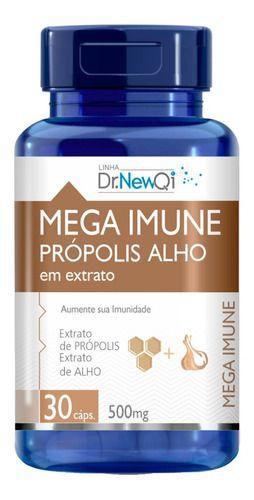 Mega Imune Própolis E Alho 30 Cápsulas 500mg - Dr New Qi