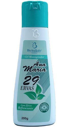 Gel Massageador Ana Maria 29 Ervas 200g - Bio Instinto