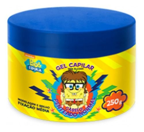 Gel Capilar Bob Esponja Fixação Média 250g - Nutriex