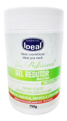 Gel Redutor De Gordura Localizada E Celulite 750g - Ideal
