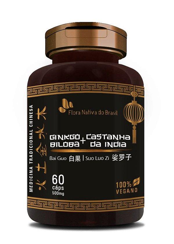 Ginkgo e Castanha da Índia 500mg 60 Capsulas - Flora nativa