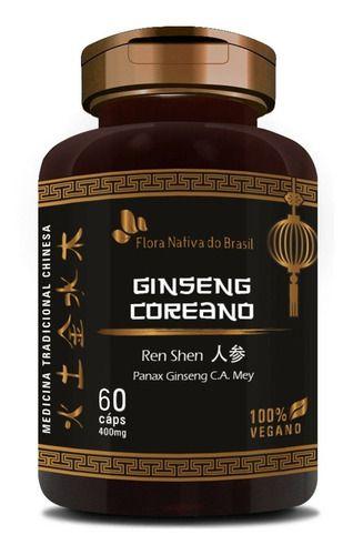 Ginseng Coreano 400mg 60 Cápsulas - Flora Nativa