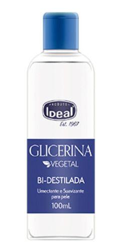 Glicerina Vegetal Bi-destilada 100ml - Ideal