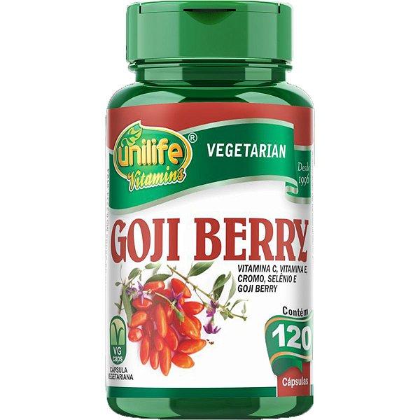 Goji Berry 500mg 120 Cápsulas - Unilife