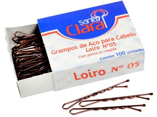 Grampo De Aço Cabelos Loiros Caixa 100 Unidades - Santa Clara