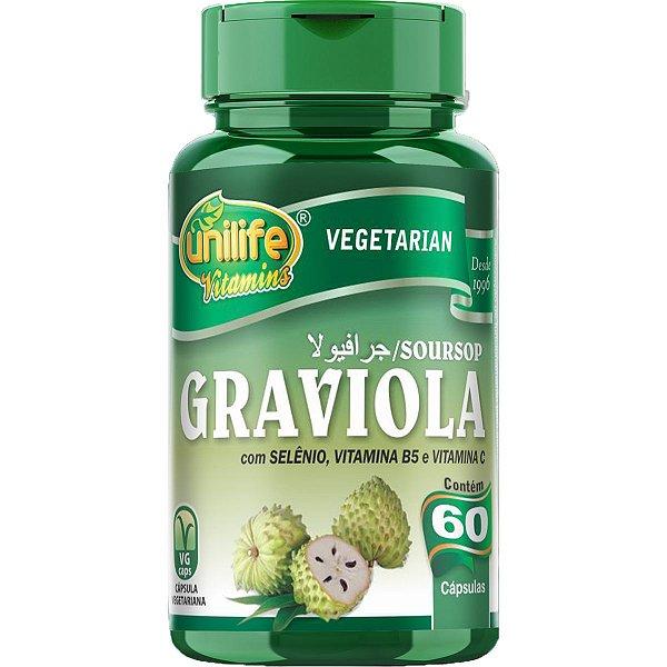 Graviola 60 Cápsulas 500mg - Unilife
