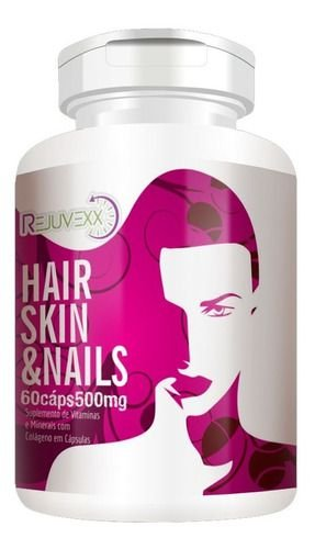 Hair Skin E Nails 500mg 60 Cápsulas - Flora Nativa