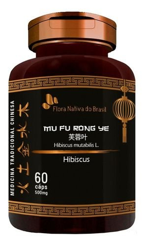 Hibisco Extrato Seco 500mg 60 Cápsulas - Flora Nativa