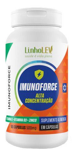Vitamina C Imunoforce 60 Cápsulas 500mg - Linho Lev