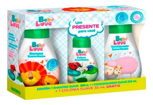 Kit Bebê Love Shampoo Condicionador E Colônia - Nutriex