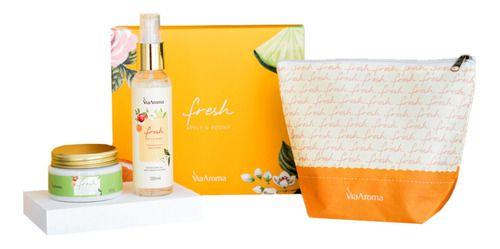 Kit Presente Necessaire Body Splash e Manteiga Corporal Apple E Peony - Via Aroma