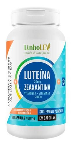 Luteína E Zeaxantina 400mg 60 Cápsulas - Linholev