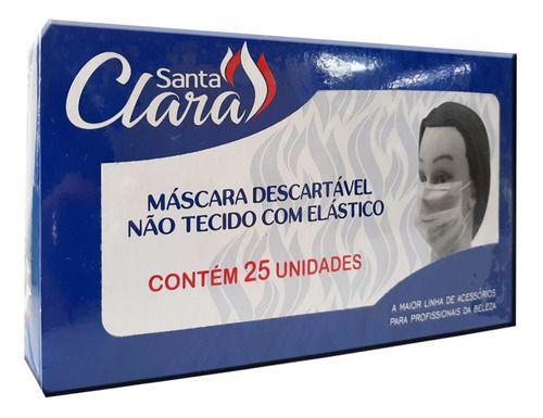 Máscara Descartável Com Elástico 25 Unidades - Santa Clara