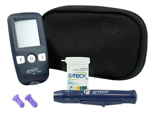 Kit Medidor De Glicose No Sangue Free - G-tech