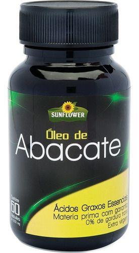 Óleo de Abacate 1400mg 60 Cápsulas - SUNFLOWER