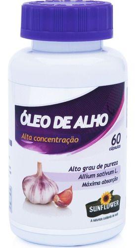 Óleo De Alho Desodorizado 700mg 60 Cápsulas - Sunflower