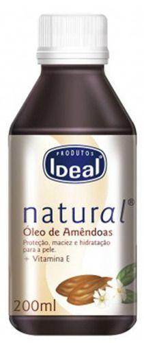 Óleo De Amêndoas 200ml - Ideal