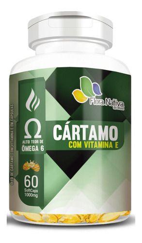 Óleo De Cártamo Vitamina E 1000mg 60 Capsulas - Flora Nativa