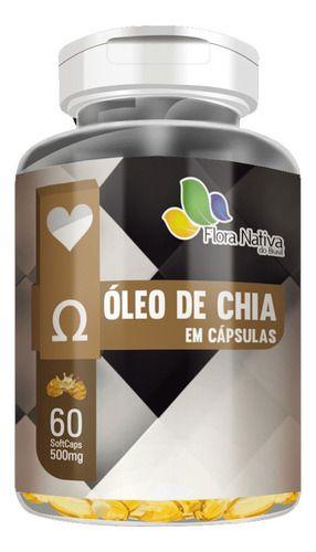 Óleo De Chia 500mg 60 Cápsulas - Flora Nativa