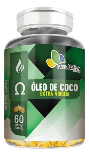 Óleo De Coco 1000g 60 Cápsulas - Flora Nativa