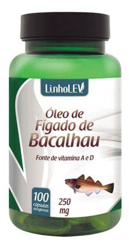 Óleo De Fígado De Bacalhau 250mg 100 Cápsulas - Linho Lev