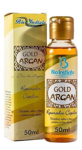 Óleo De Argan Gold Reparador Capilar 30ml - Bio Instinto