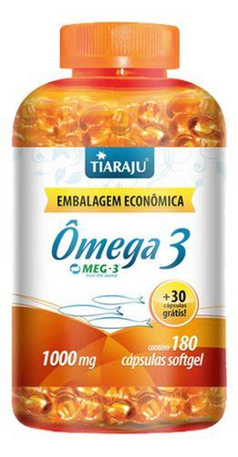 Omega 3 Meg-3 1000mg 210 Cápsulas - Tiaraju