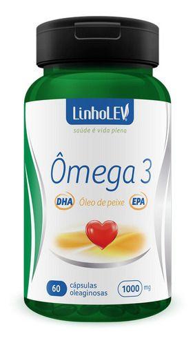 Omega 3 60 Cápsulas 1000mg - Linho Lev