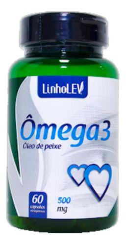 Omega 3 500mg 60 Cápsulas - Linho Lev